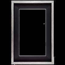 80×80 cm Ezüst keret
