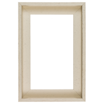 80×100 cm Fehér keret