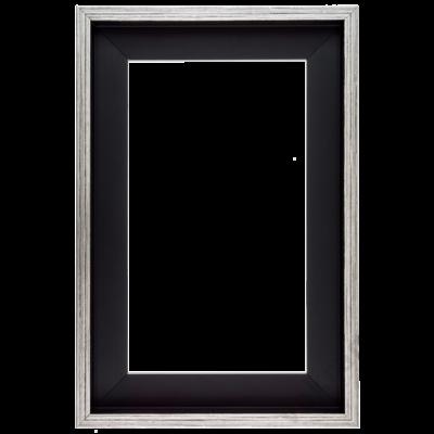 30×30 cm Ezüst kiállító képkeret