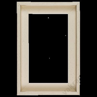 30×30 cm Fehér kiállító képkeret