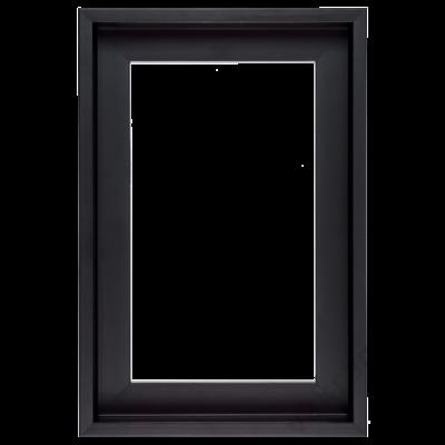 20×20 cm Fekete kiállító képkeret